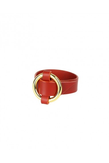 Woven O-Ring Cuff Red