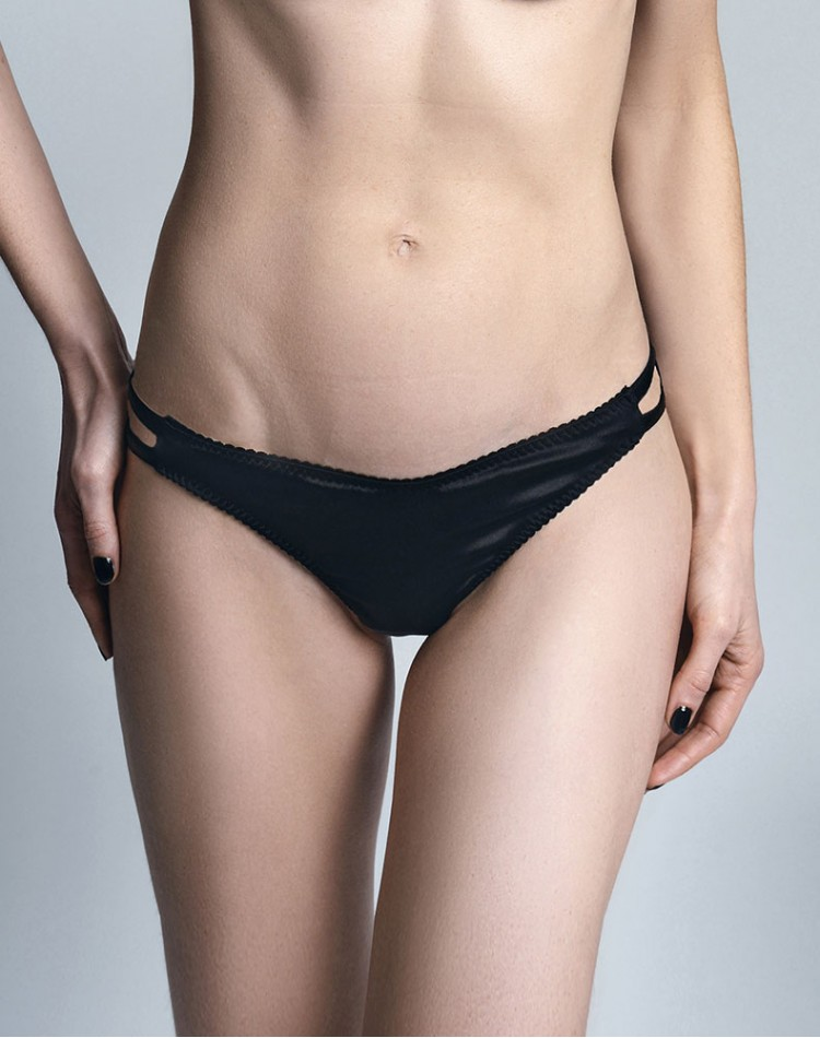 Triangle Thong - Onyx