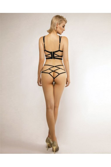 Complete Set Cross Back - Bra Liquorice