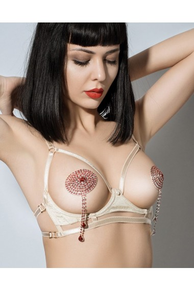 Cupless Harness Bra - Vegas Gold