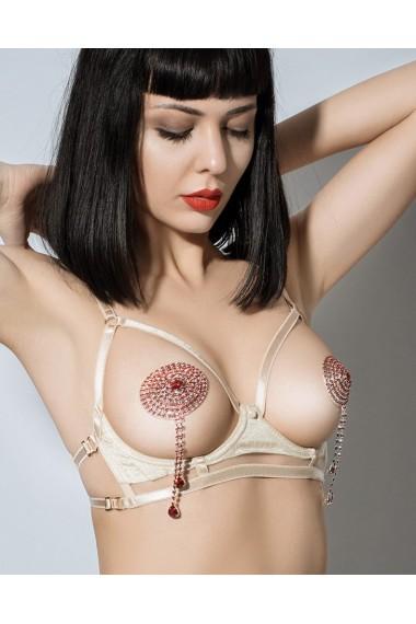 Cupless Harness Bra - Vegas Gold
