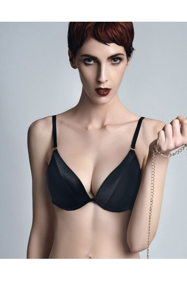 Complete set Pushup Bra - Triangle Thong Onyx